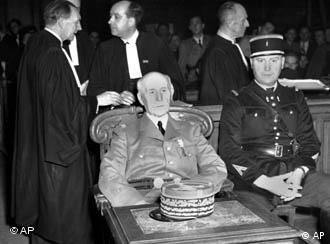 Vichy leader Henri Philippe Petain was sentenced to death for treason