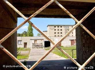 Dilapidated vacation site in Prora on the Ruegen island