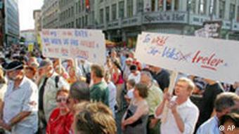 Anti-Hartz IV demonstration in Leipzig