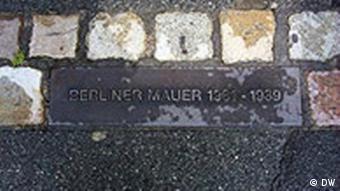 Markierung der Berliner Mauer