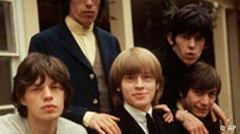 The Rolling Stones, left to right: Mick Jagger, Bill Wyman, Brian Jones, Keith Richards and Charlie Watts are seen in this Sept. 12, 1964 file photo. Rolling Stones drummer Charlie Watts is being treated for throat cancer, a spokesman for the band said Saturday Aug. 14 2004. Watts, 63, was mid-way through a course of radiotherapy at the Royal Marsden Hospital in Chelsea, south west London, near his home, he said. The musician, whose records with the Stones have sold millions around the world, was diagnosed after going into hospital in June.(AP Photo/PA) ** UNITED KINGDOM OUT NO SALES MAGS OUT **
