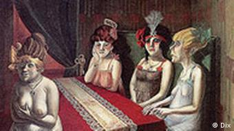 1921 painting The Salon by Otto Dix
