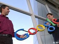 Larry Page (e) e Sergey Brin, fundadores da Google