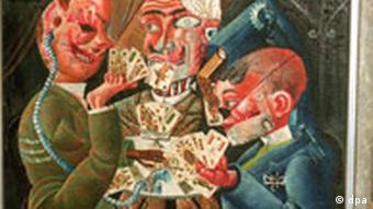 Bildgalerie Deutsche Kunst der Nachkriegszeit Die Skatspieler von Otto Dix