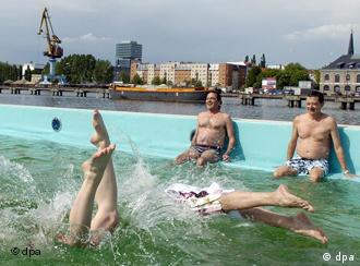 Berlin residents can now frolic in the Spree River, sort of.
