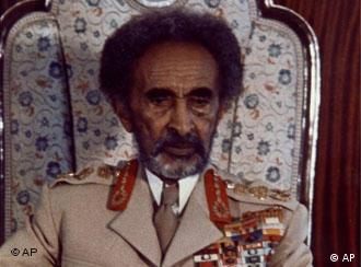 Emperor of Ethiopia Haile Selassie is shown during an interview in the Grand Palace, Addis Ababa, Ethiopia in 1974. (AP Photo)