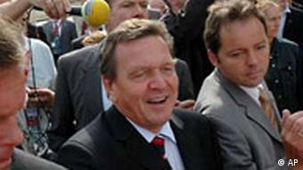 Gerhard Schröder in Ostdeutschland
