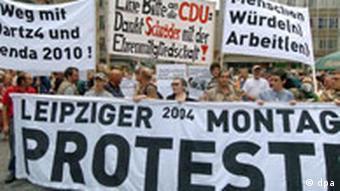Montagsdemonstration in Leipzig