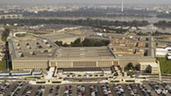 Luftbild vom amerikanischen Verteidigungsminsterium Pentagon in Washington 2003