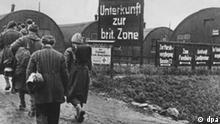 Kalenderblatt Grenzdurchgangslager Friedland Hauptthemen: 1945: Lager Friedland eröffnet