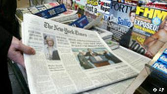 NY Times at a newsstand