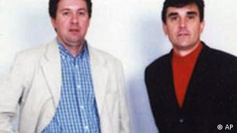 Geiselnahme im Irak Französische Journalisten Georges Malbrunot, rechts, Christian Chesnot, links