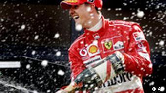 Der deutsche Formel 1 Ferrari-Fahrer Michael Schumacher ist vorzeitig Weltmeister