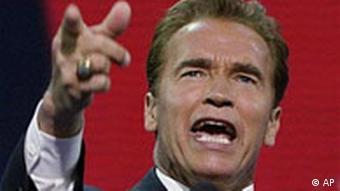 Arnold Schwarzenegger auf dem Republikanerparteitag