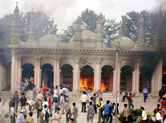 There were protests in Katmandu when 12 Nepalese migrants were taken hostage and killed in Iraq in 2004