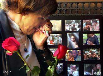 Wails of mourning echoed through the streets of Beslan Sunday