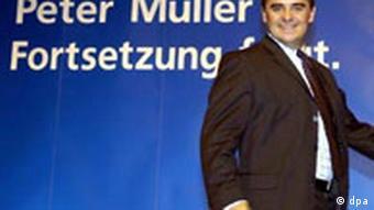 Landtagswahlen in Saarland Peter Müller