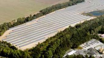 Solar-Kraftwerk der Shell Solar