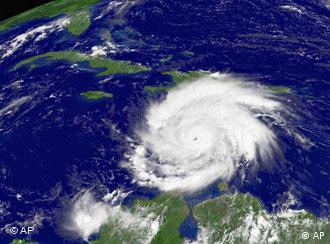 Satellite image of hurricane (Source: AP)