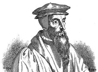 Contemporary portrait of the Protestant reformer John Calvin
