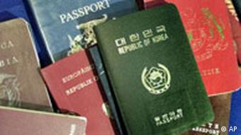 Passports from various countries