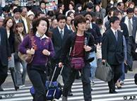 Japanci na ulici u Tokiju