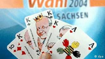 Landtagswahl 2004 in Sachsen: Skatspiel mit Georg Milbradt