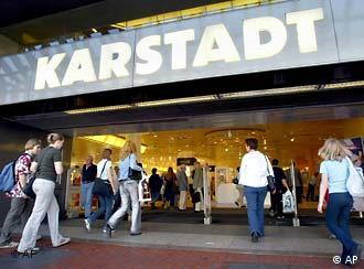 Karstadt store and customers