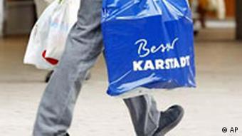 man with Karstadt bag