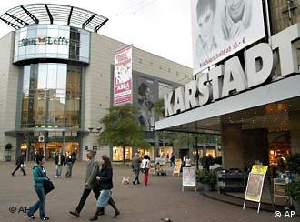 Outside of a Karstadt department store