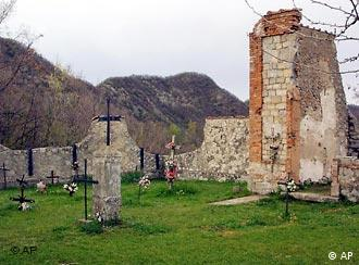 A cemetery in Italy where some of the civilian victims of a Nazi massacre were buried in 1944