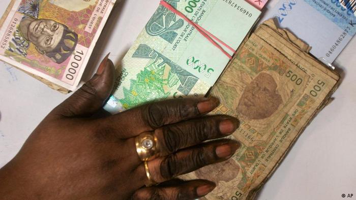 Der Franc CFA in Westafrika (Foto: AP)