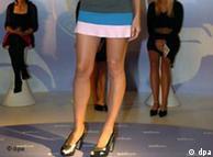 Heidi Klum's  legs in a micro-mini