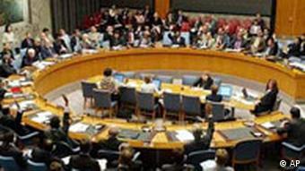 Blick auf den UN-Sicherheitsrat, aufgenommen 2004, als die USA im Sicherheitsrat eine Resolution gegen Israel blockierten (Foto: AP)