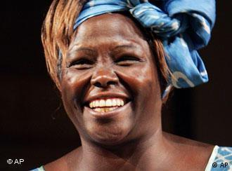 Die kenianische Umweltaktivistin Wangari Maathai