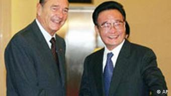 China: Jacques Chirac und Wu Bangguo in Peking
