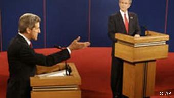 Dritte Fernsehdebatte George Bush und John Kerry