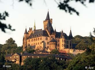 Вид на замок Вернигероде