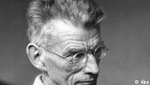 Samuel Beckett am 23. September 1967 während der Proben zu seinem Stück Endpiel am Berliner Schiller-Theater. Der irische Dramatiker erhält den Nobelpreis für Literatur 1969.