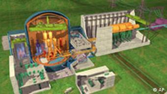 Atomkraftwerk, Querschnitt, Grafik, Flamanville