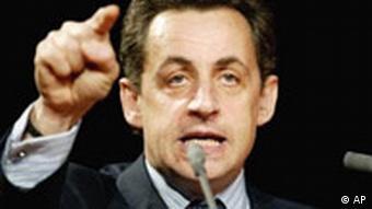 Nicolas Sarkozy, französischer Wirtschafts- und Finanzminister
