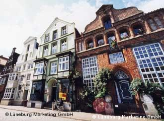 Häuserfronten in Lüneburg (Foto: Lüneburg Marketing GmbH)