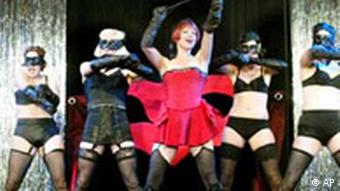 Dancing girls from a scene from Cabaret
