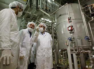 Завод по конверсии урана в Исфахане. Здесь уран превращается в газ.