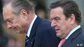 Jacques Chirac bei Gerhard Schröder in Berlin
