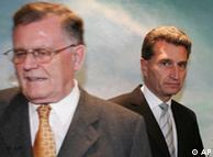 Гюнтер Эттингер сменил Эрвина Тойфеля (слева) всего год назад