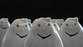 Der weiße WC-Geist SPUK sorgt für subere Klobrillen