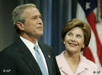 George et Laura Bush