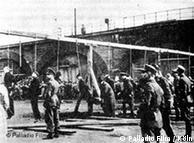 Ejecución de trabajadores forzados en Colonia.