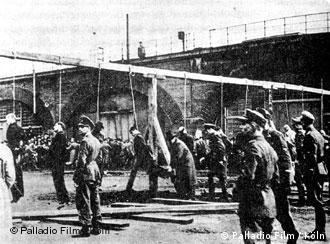 Execução de trabalhadores forçados em Colônia, 1944
